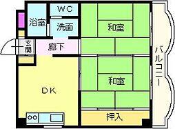 サンモール木下II[3階]の間取り