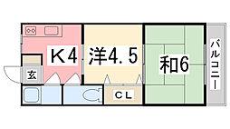 M 松の内アパート[202号室]の間取り