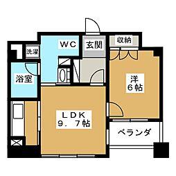 リーガル京都烏丸通り[6階]の間取り