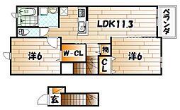 カンパーニュA[2階]の間取り