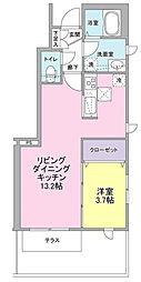 ブルーム桜丘A棟[1階]の間取り