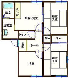 ラフォーレ福居 201号室[2階]の間取り