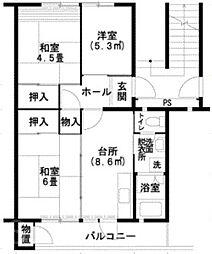 UR泉北桃山台1丁団地[6階]の間取り