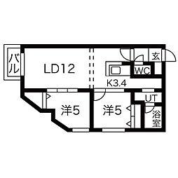 リュクスN22[5階]の間取り