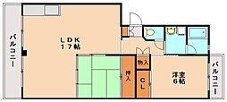 ビューラー88[2階]の間取り