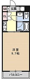 宝源ビル[206号室号室]の間取り