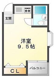 レバンガ江坂アパートメント[4階]の間取り