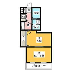 ヴォルフスガルテン太宰府[3階]の間取り