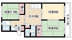 愛知県名古屋市名東区平和が丘5丁目の賃貸マンションの間取り