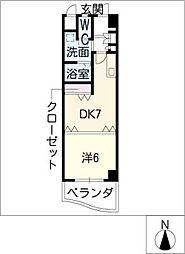 名駅・ドットマンション[3階]の間取り