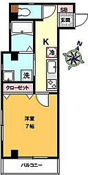 仮)中十条3丁目新築マンション 3階1Kの間取り