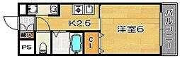 コンソール北園[203号室]の間取り