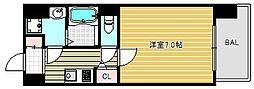 アドバンス大阪ルーチェ[2階]の間取り