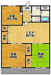 アーバンヒルW[2階]の間取り