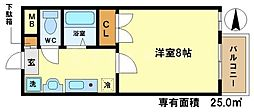 モノコモド御前A棟[1階]の間取り