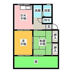 ソファレ・オカ[1階]の間取り