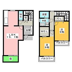[一戸建] 愛知県岩倉市曽野町上街道 の賃貸【/】の間取り