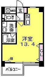 兵庫県西宮市染殿町の賃貸マンションの間取り