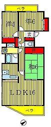 コスモ新松戸[4階]の間取り