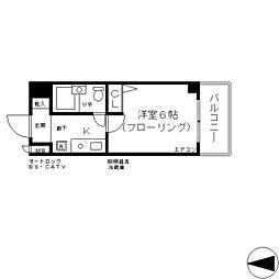 エスリード新大阪第6[3階]の間取り