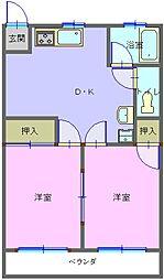 メゾンU[2階]の間取り