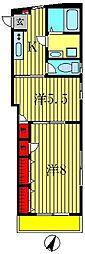 ロワジール[1階]の間取り
