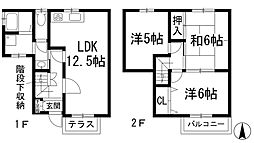 [テラスハウス] 兵庫県川西市西畦野1丁目 の賃貸【/】の間取り