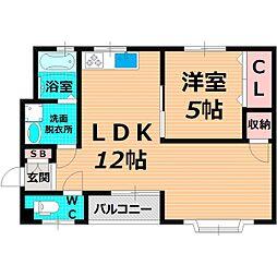 Osaka Metro長堀鶴見緑地線 蒲生四丁目駅 徒歩7分の賃貸マンション 3階1LDKの間取り