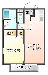 フローラルパウム[2階]の間取り