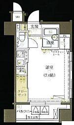 都営浅草線 宝町駅 徒歩10分の賃貸マンション 3階ワンルームの間取り