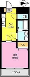 タケダビル2[703号室]の間取り