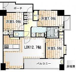 KDXレジデンス町田[7階]の間取り