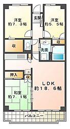 ウォームライトレジデンス2号棟[2階]の間取り
