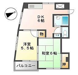 シティメイツKODEKI[3階]の間取り