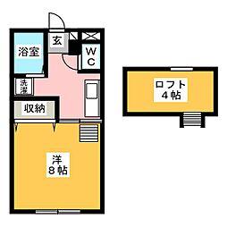 WOMマンション[2階]の間取り