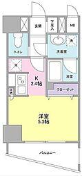 神奈川県横浜市神奈川区沢渡の賃貸マンションの間取り