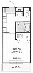 天王台ロイヤルハイツ[105号室号室]の間取り