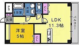 エトワール 3階1LDKの間取り