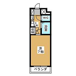 ベルメゾン本田[6階]の間取り