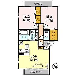 ドエルS[2階]の間取り