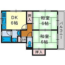 阪口マンション[3階]の間取り