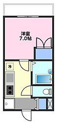 第21増尾ビル[1階]の間取り