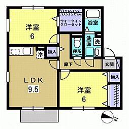 レークタウン[2階]の間取り