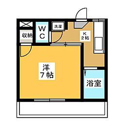 イーリスツノダ[1階]の間取り