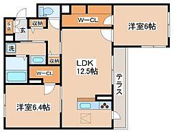 兵庫県神戸市長田区駒ケ林町2丁目の賃貸マンションの間取り