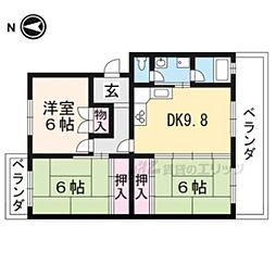 グランシャリオ A棟 3階3LDKの間取り