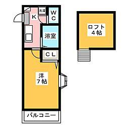 アーバン博多[1階]の間取り