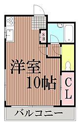 東京都大田区東馬込1丁目の賃貸アパートの間取り