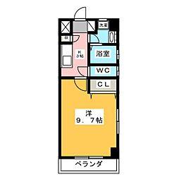 椿山荘[8階]の間取り
