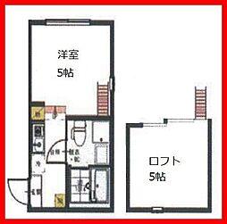 東京都足立区青井4の賃貸アパートの間取り